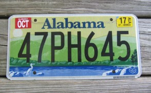 Alabama Green Mountains and River License Plate 2017