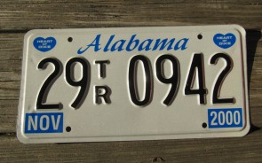 Alabama Heart of Dixie License Plate 2000