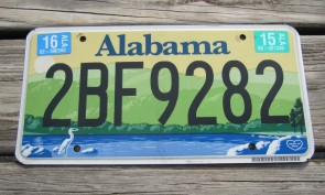 Alabama Green Mountains and River License Plate 2015