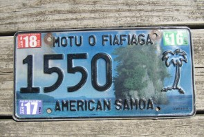 American Samoa Islands License Plate United States