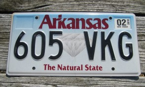 Arkansas Diamond The Natural State License Plate 2016