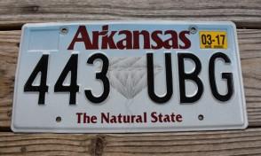 Arkansas Diamond The Natural State License Plate 2017 443 UBG