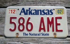 Arkansas White The Natural State License Plate 2000