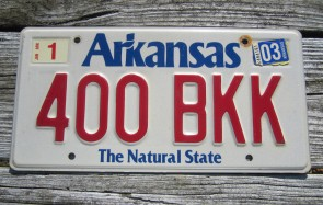 Arkansas Disabled Wheel Chair License Plate 2014