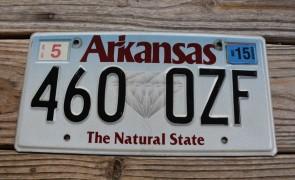 Arkansas Diamond The Natural State License Plate 2015 460 OZF