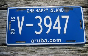 Aruba One Happy Island License Plate 2015 Website Style
