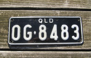 Australia License Plate Queensland Car Trailer 1990's