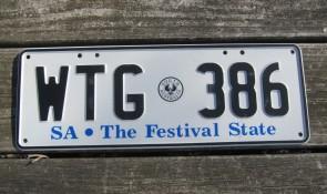 Australia License Plate South Australia The Festival State SA