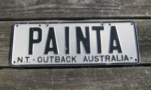 Australia License Plate Outback Australia NT Vanity