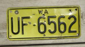 Australia Motorcycle License Plate Western Australia