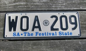 Australia License Plate South Australia The Festival State SA