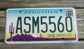 Arizona Sunset Cactus License Plate Grand Canyon State 2013