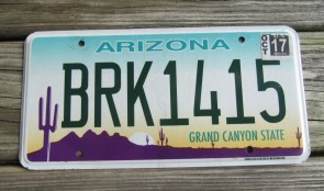 Arizona Sunset Cactus License Plate Grand Canyon State 2017
