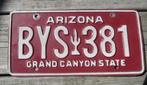 Arizona Sunset Cactus License Plate Grand Canyon State 2015