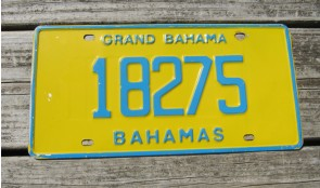Bahamas Yellow Blue License Plate 2014