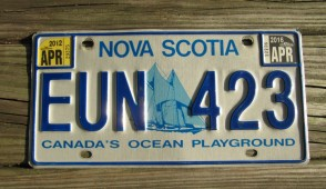 Canada Nova Scotia Bluenose Schooner License Plate 2016