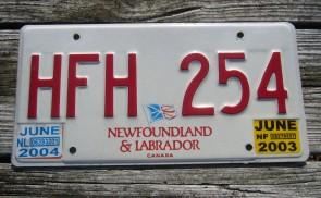 Canada Newfoundland And Labrador License Plate 2003