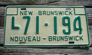 Canada New Brunswick License Plate 1970's Nouveau Brunswick