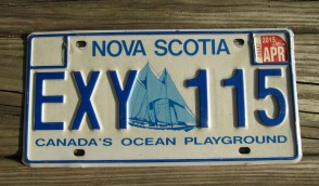 Canada Nova Scotia Bluenose Schooner License Plate 2015