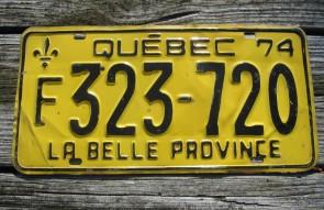 Quebec Canada LA Belle Province License Plate