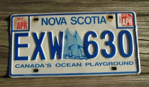 Canada Nova Scotia Bluenose Schooner License Plate 2017