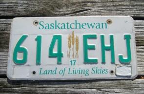 Saskatchewan Canada Wheat Grain License Plate Land of Living Skies