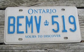 Canada Yukon Green White License Plate Motorcycle Sized Trailer 1962