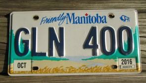 Manitoba Friendly Canada License Plate