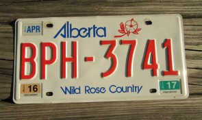 Alberta Canada Wild Rose Country License Plate 2017