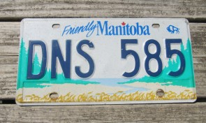 Manitoba Friendly Canada License Plate