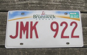 Canada New Brunswick Be in This Place License Plate 2017