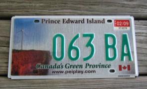 Yukon Canada Green Province License Plate 2009