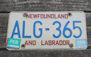 Canada Newfoundland And Labrador License Plate 1993