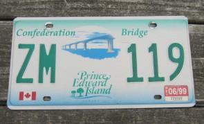 Canada Prince Edward Island License Plate 1999 Confederation Bridge