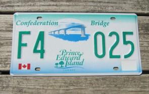 Canada Prince Edward Island License Plate Confederation Bridge