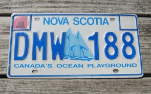 Canada Nova Scotia Bluenose Schooner License Plate 2003