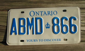 Ontario Yours to Discover Canada License Plate