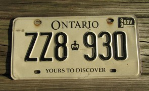 Canada Alberta Motorcycle License Plate Wild Rose State