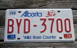 Alberta Canada Wild Rose Country License Plate 2019