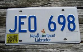 Canada Newfoundland And Labrador License Plate 2017