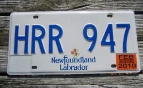 Canada Newfoundland And Labrador License Plate 2010