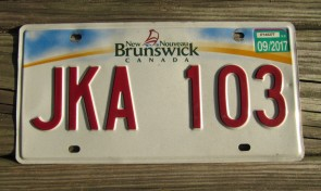 Canada New Brunswick License Plate 2017
