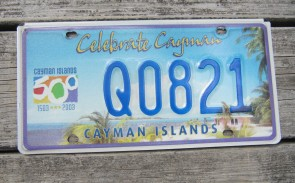 Cayman Islands Celebrate 500 Years License Plate