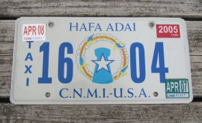 Northern Mariana Islands Taxi License Plate USA Territory CNMI 2007
