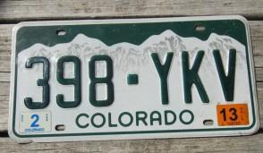 Colorado Mountain Scene License Plate 2013