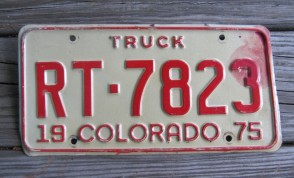Colorado Truck License Plate 1975