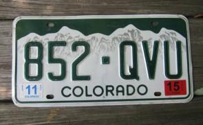 Colorado Mountain Scene License Plate 2015