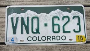 Colorado Mountain Scene License Plate 2018