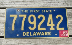 Delaware The First State License Plate