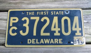 Delaware The First State License Plate 2017